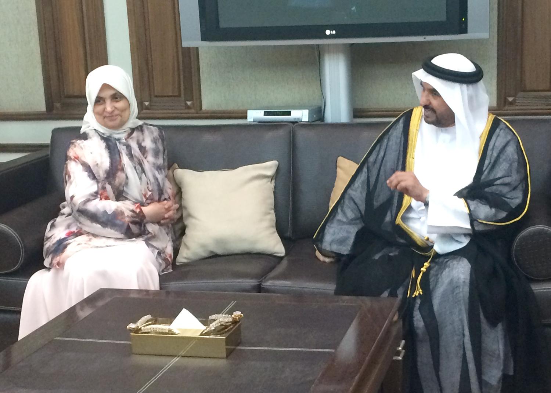 Kuna Kuwaiti Minister Hails Sheikha Fatima Al Ketbi For Contributions To Family Programs Society 25 03 2015
