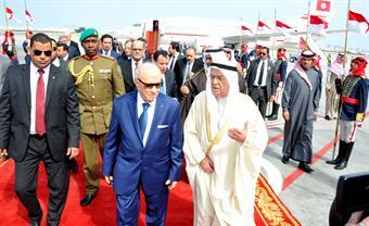 Tunisian President Beji Caid Essebsi in Bahrain