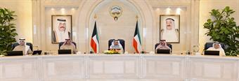 His Highness the Prime Minister Sheik Jaber Al-Mubarak Al-Hamad Al-Sabah presides the cabinet weekly meeting