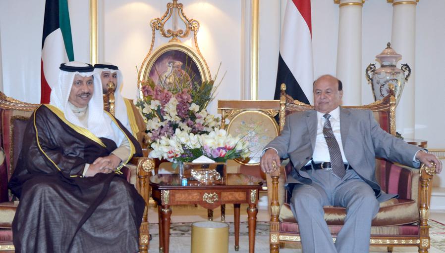 Yemeni President Abd Rabu Mansour Hadi Receives His Highness The Prime Minister Sheikh Jaber Al Mubarak