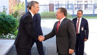 NATO Secretary General Jens Stoltenberg meets Jordanian King Abdullah II