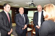 Interior Ministry's Undersecretary Lt. Gen. Sulaiman Al-Fahad during his meeting with Mexico's Attorney General Arely Gomez Gonzalez