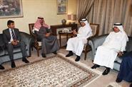 Interior Minister Sheikh Mohammad Al-Khaled Al-Hamad Al-Sabah with Qatari Deputy Prime Minister and Interior Minister Sheikh Abdullah Bin Nasser Al-Thani