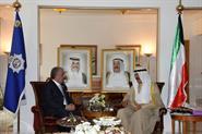 Interior Minister Sheikh Mohammad Al-Khaled Al-Hamad Al-Sabah with Lebanese Interior Minister Nuhad Al-Machnouk