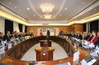 Turkish Prime Minister Ahmet Davutoglu meets jordanian counterpart Abdullah Ensour