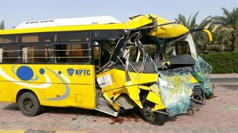 School bus overtuns, six students injured