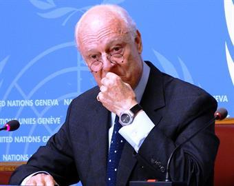 The UN Syria's envoy Staffan de Mistura