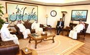 Chairman and General Director of Kuwait News Agency (KUNA) Sheikh Mubarak Al-Duaij Al-Ibrahim Al-Sabah receives Libyan charge d'affaires, Abdulali Al-Murtada
