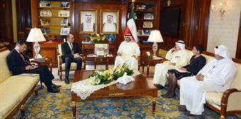 Deputy Prime Minister and Foreign Minister Sheikh Sabah Al-Khaled Al-Hamad Al-Sabah receives US Ambassador Douglas A. Silliman