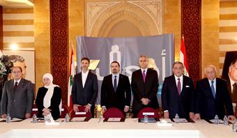 مؤتمر صحافي خلال اطلاق حملة دعم مشروع ازالة الفقر والعوز في لبنان
