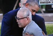 US President Barack Obama and atomic bomb survivor