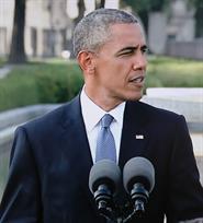 US President Barack Obama in Hiroshima