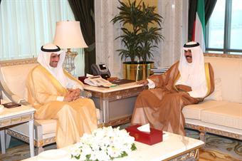 His Highness the Crown Prince Sheikh Nawaf Al-Ahmad Al-Jaber Al-Sabah received National Assembly Speaker Marzouq Al-Ghanim