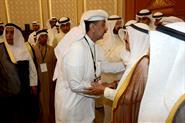 His Highness the Amir Sheikh Sabah Al-Ahmad Al-Jaber Al-Sabah meets with Sadeq mosque attack martyrs' families