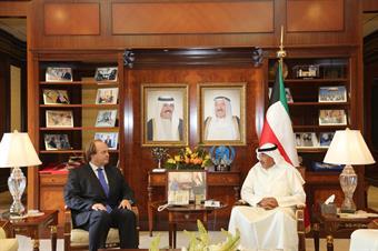 First Deputy Prime Minister and Foreign Minister Sheikh Sabah Khaled Al-Hamad Al-Sabah received German Ambassador to Kuwait Eugen Wollfarth