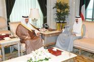His Highness the Crown Prince Sheikh Nawaf Al-Ahmad Al-Jaber Al-Sabah received His Highness the Prime Minister Sheikh Jaber Al-Mubarak Al-Hamad Al-Sabah