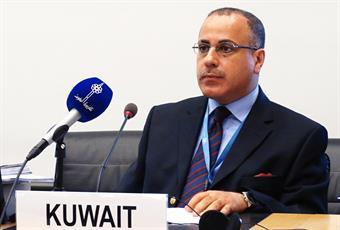 Kuwait's Permanent Representative to the United Nations and other humanitarian organizations in Geneva, Ambassador Jamal Al-Ghunaim