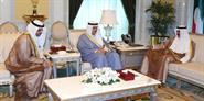 His Highness the Crown Prince Sheikh Nawaf Al-Ahmad Al-Jaber Al-Sabah receives Minister of Information and Minister of State for Youth Affairs Sheikh Salman Sabah Salem Al-Humoud Al-Sabah