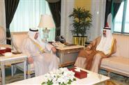 His Highness the Crown Prince Sheikh Nawaf Al-Ahmad Al-Jaber Al-Sabah receives Deputy Prime Minister and Defense Minister Sheikh Khaled Al-Jarrah Al-Sabah