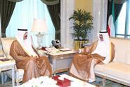 His Highness the Crown Prince Sheikh Nawaf Al-Ahmad Al-Jaber Al-Sabah receives Deputy Prime Minister and Minister of Interior Sheikh Mohammad Al-Khaled Al-Hamad Al-Sabah