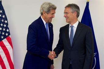 US Secretary of State John Kerry and NATO Secretary General Jens Stoltenberg