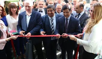 Ambassador to Bosnia and Herzegovina Nasser Al-Mutairi open the complex of clinics built by Kuwaiti investors