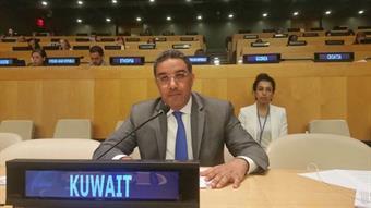 First secretary of Kuwait's Permanent Mission to the United Nations Abdulaziz Saud Al-Jarallah