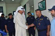 Deputy Prime Minister and Minister of Interior Sheikh Mohammad Al-Khaled Al-Hamad Al-Sabah during the inspection tour of the Coast Guard center in Umm al Maradim Island