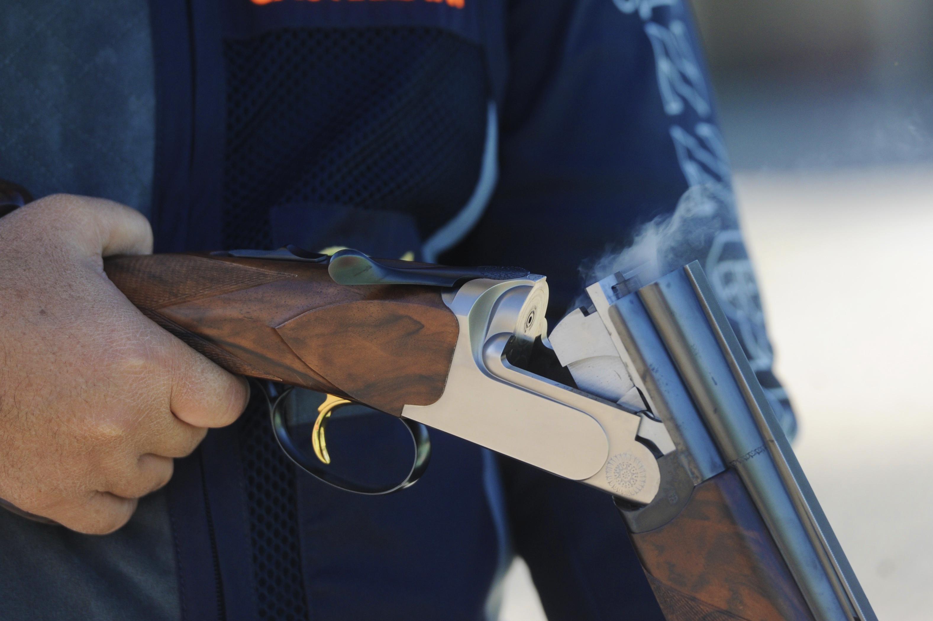 A Shooter In Sheikh Fahad Al Salem Sabah Shooting Tournament Reloading His Gun